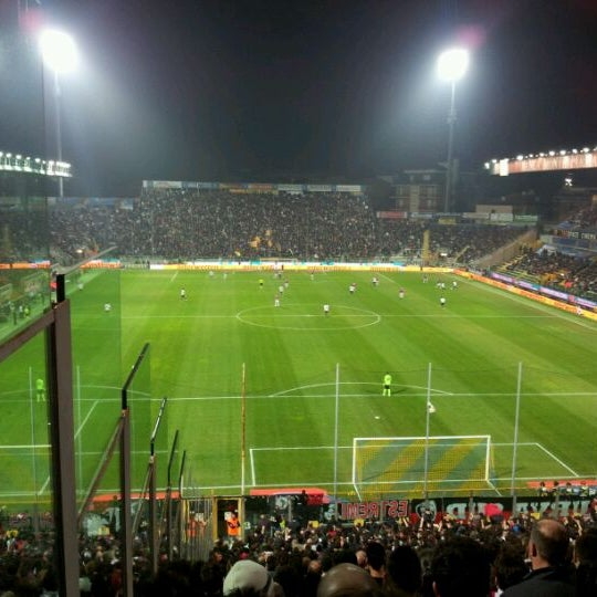 Photo taken at Stadio Ennio Tardini by Davide P. on 3/17/2012
