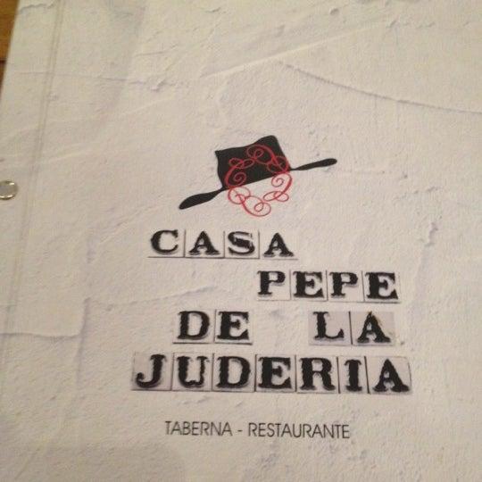 Foto tomada en Casa Pepe de la Judería por Gonzalo R. el 3/24/2012