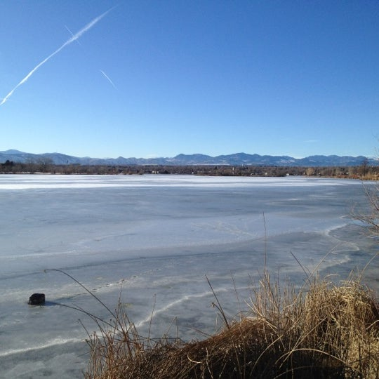 Photo taken at Sloan's Lake Park by Krista P. on 12/18/2011
