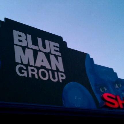 Photo taken at Blue Man Group at Universal CityWalk by Abhishek P. on 8/27/2011