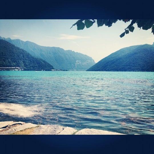 Photo taken at Lago di Lugano by Sven D. on 7/19/2012