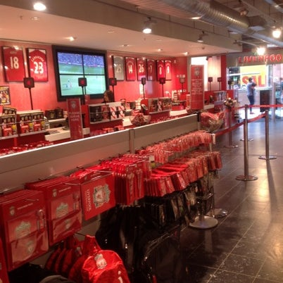 Photo taken at Liverpool FC Official Club Store by Maxim S. on 8/2/2012