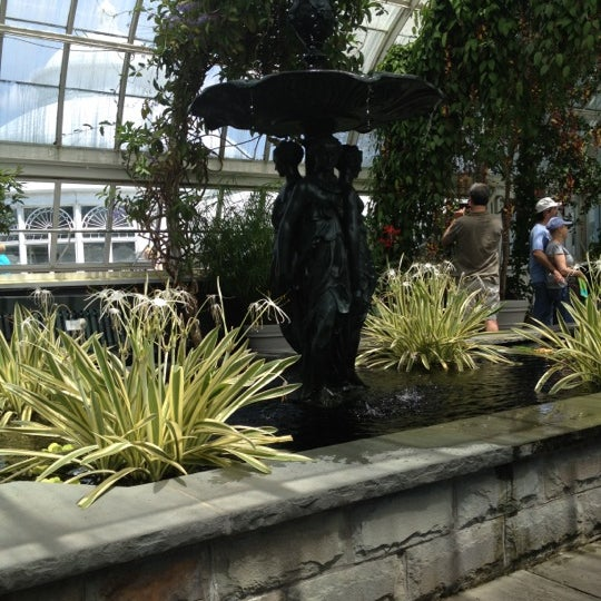 Photo taken at Enid A. Haupt Conservatory by Sarah M. on 6/23/2012