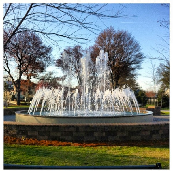 Photo taken at Lyndhurst Town Hall Park by Steven S. on 3/27/2012
