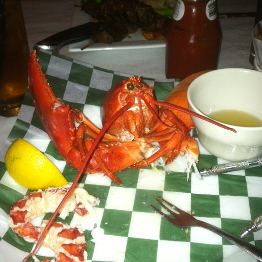 Photo taken at Weirs Beach Lobster Pound by James L. on 11/23/2011