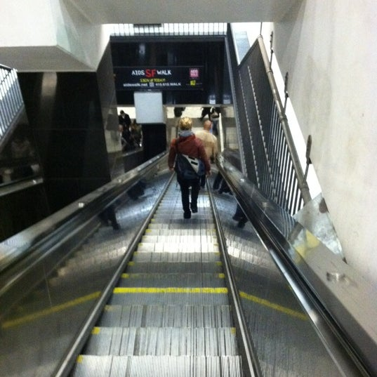Photo taken at Civic Center/UN Plaza BART Station by Veronica P. on 11/15/2011
