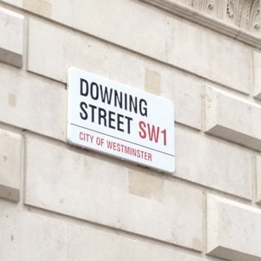 Photo taken at 10 Downing Street by Nicolas B. on 11/1/2011