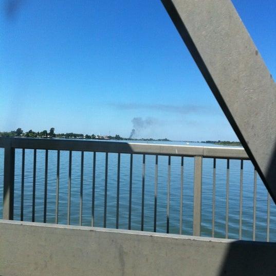 Photo taken at Rio Vista Bridge by Michele M. on 8/5/2011