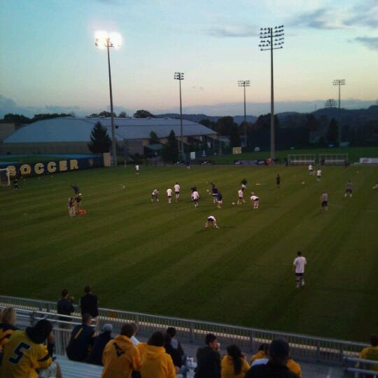 Photo taken at Dick Dlesk Soccer Stadium by Nick C. on 10/18/2011