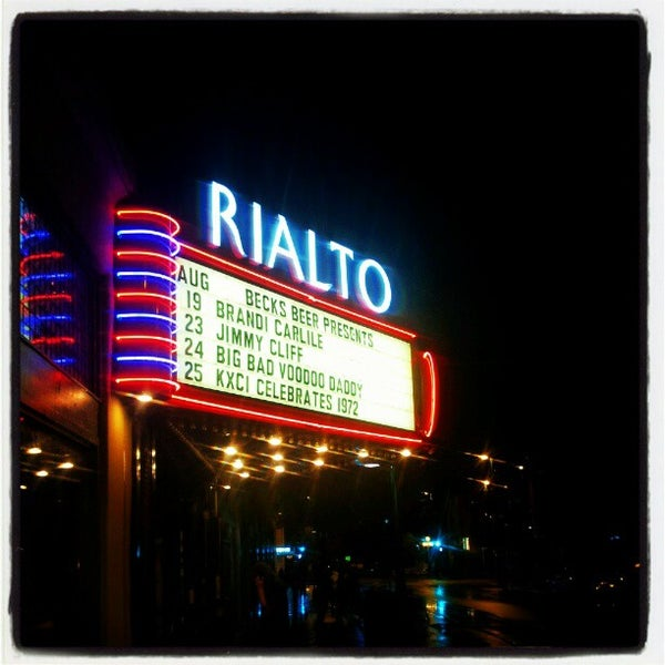 Photo taken at The Rialto Theatre by Damian Z. on 8/20/2012