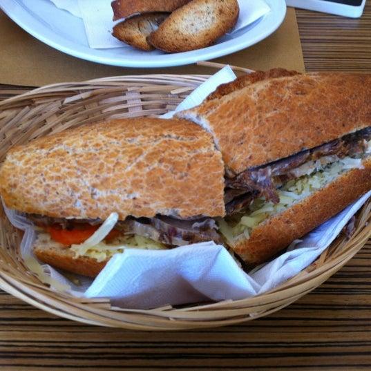 Beef sandwich.  Very filling
