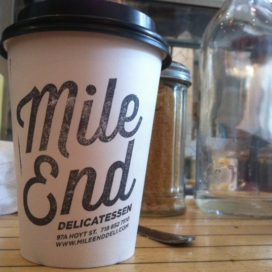 Photo taken at Mile End Delicatessen by Faye I. on 6/10/2012