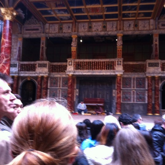 Photo taken at Shakespeare's Globe Theatre by Sean H. on 5/21/2012