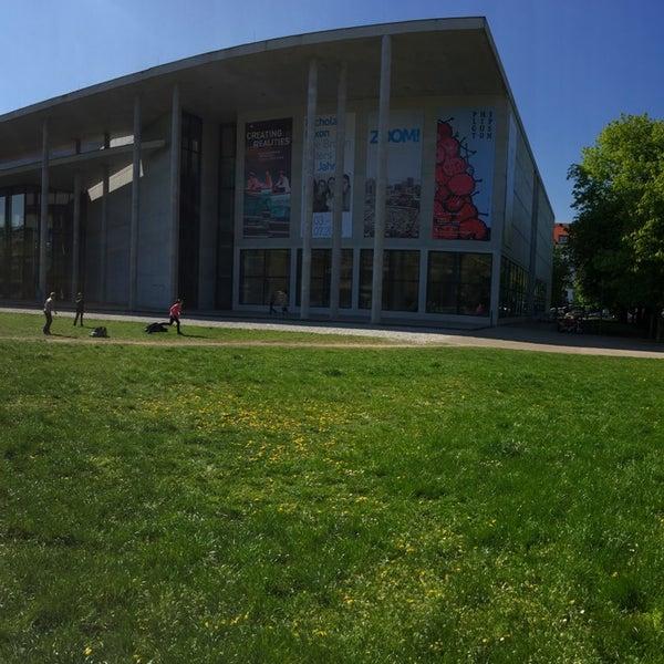 Photo taken at Pinakothek der Moderne by hyll i. on 4/24/2015