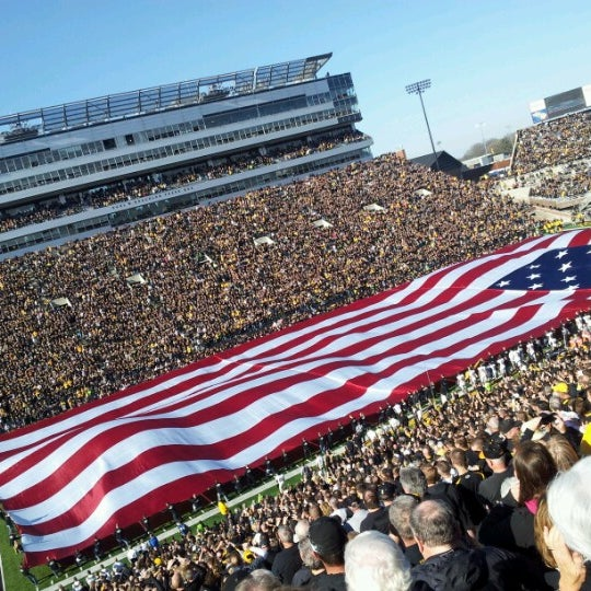 Photo taken at Kinnick Stadium by Andrew D. on 11/10/2012