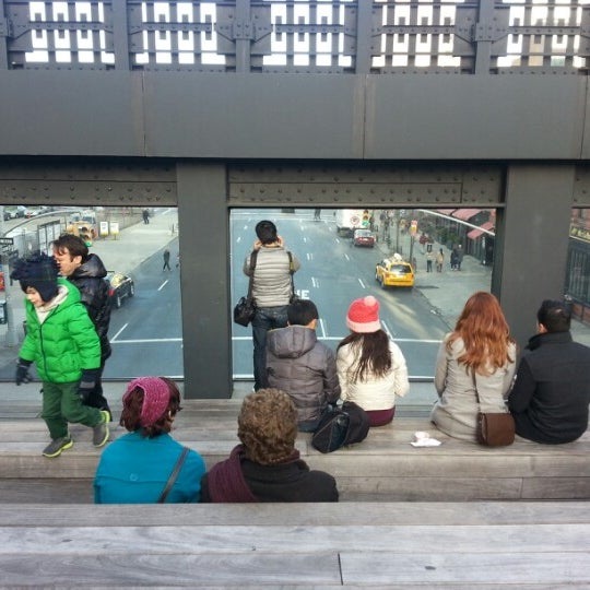 Photo taken at High Line 10th Ave Amphitheatre by Jung-Ah Y. on 1/20/2013