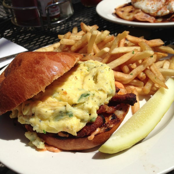 A hidden gem - cliche phrase but so true. Bloody mary + egg sandwich (or any entree) = $20 of brunch goodness. Service was great and the patio was warm and sunny - new neighborhood fave!