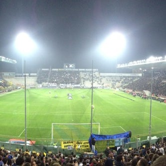 Photo taken at Stadio Ennio Tardini by Andrea M. on 11/2/2013