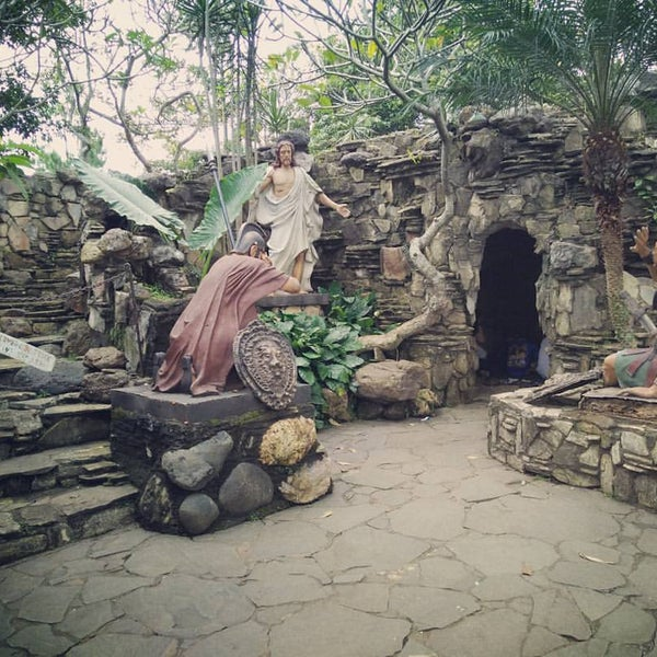Photo taken at Gua Maria Kerep by Devina L. on 4/16/2017