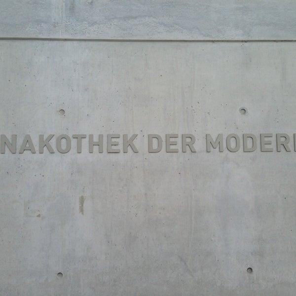 Photo taken at Pinakothek der Moderne by David G. on 1/25/2013
