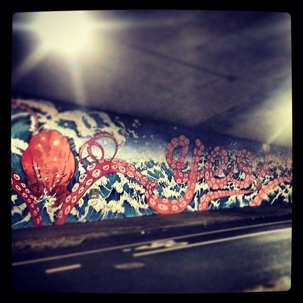 Photo taken at MTA Subway - York St (F) by Geoff G. on 2/21/2014