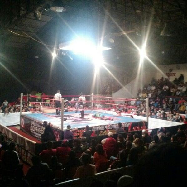 Photo taken at Arena Adolfo Lopez Mateos by César A. on 3/27/2016