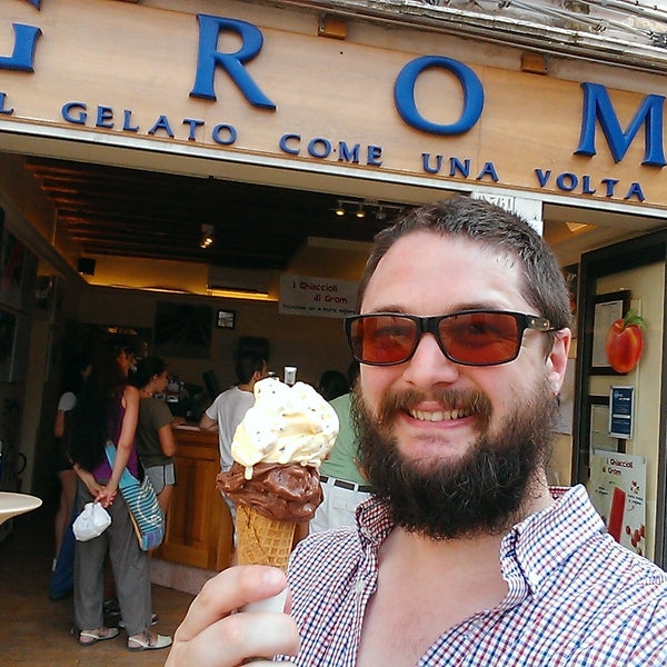 The Crema Di Grom is a nice accompaniment for many others, comes with sizable biscuit chunks,if you're into that. Very good gelateria... But definitely not the best!