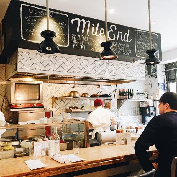 Photo taken at Mile End Delicatessen by Linda C. on 5/11/2015