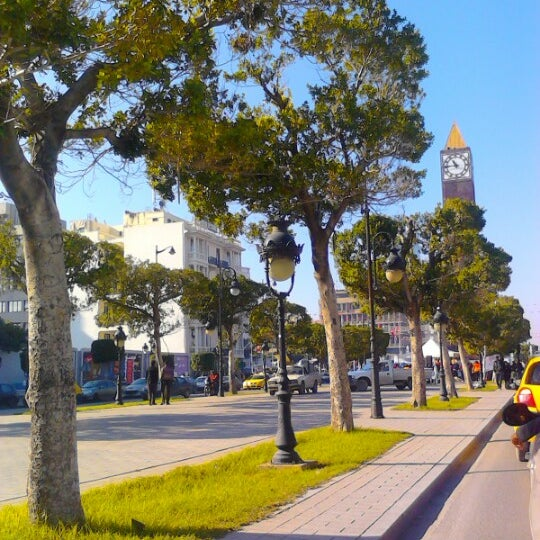 Photo taken at Avenue Habib Bourguiba by Nabil B. on 11/24/2012