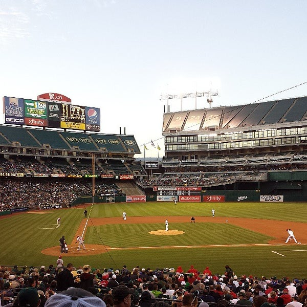 Photo taken at O.co Coliseum by tae k. on 7/26/2013