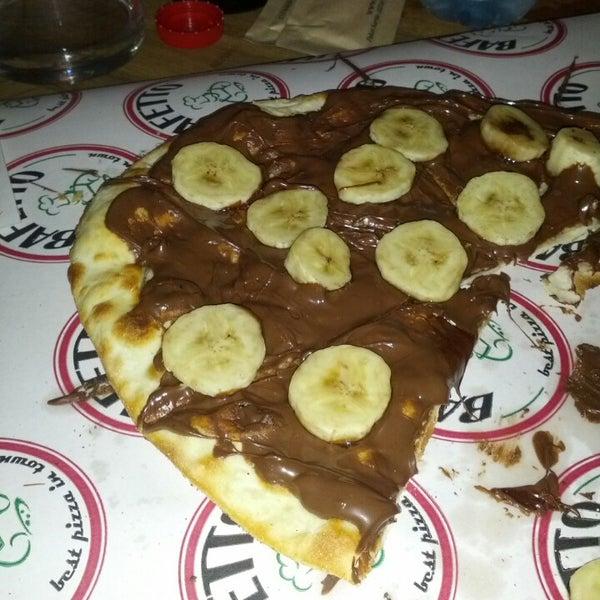Nutellali pizza harika yalnız çok doyurucu 2 kişi paylasabilirsiniz