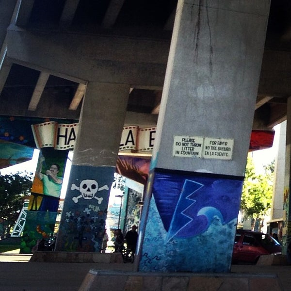 Photo taken at Chicano Park by Juan T. on 10/5/2013