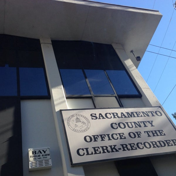Sacramento County Clerk / Recorder - Central Sacramento - 600 8th St