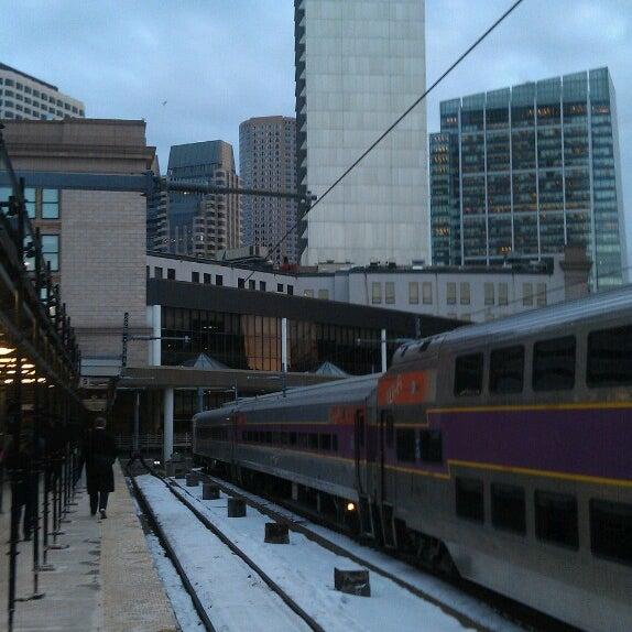 Photo taken at South Station Terminal (MBTA / Amtrak) by Eric B. on 2/19/2013