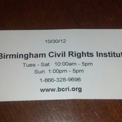 Photo taken at Birmingham Civil Rights Institute by Angie on 10/31/2012