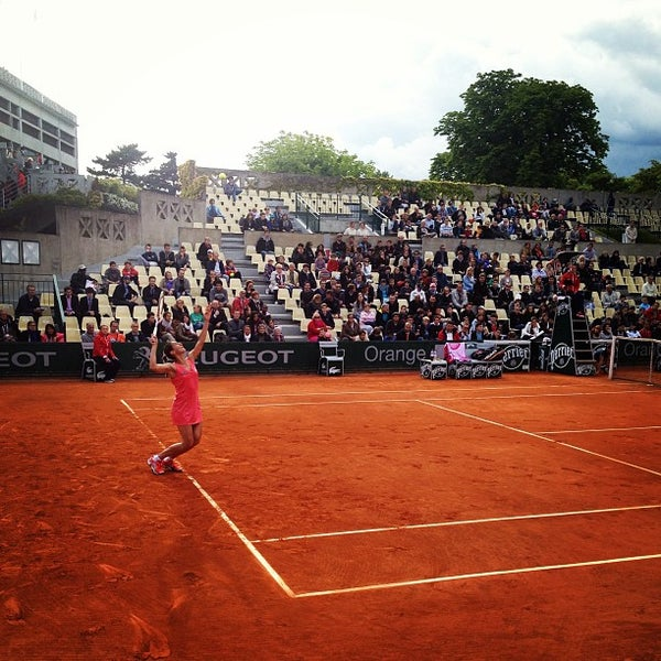 Photo taken at Stade Roland Garros by Jacques F. on 5/29/2013