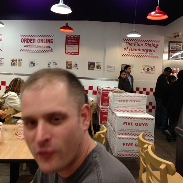 Photo taken at Five Guys by Troy P. on 2/15/2013
