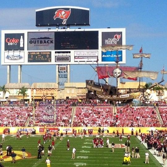 Photo taken at Raymond James Stadium by Logan K. Y. on 1/2/2013