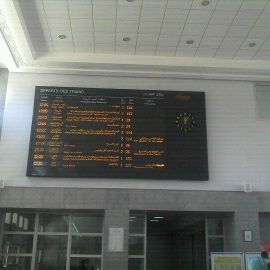 Photo taken at Gare de Mohammédia  محطة المحمدية by Max B. on 10/3/2012