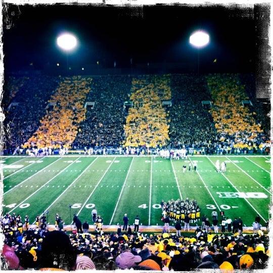 Photo taken at Kinnick Stadium by Lynn B. on 10/21/2012