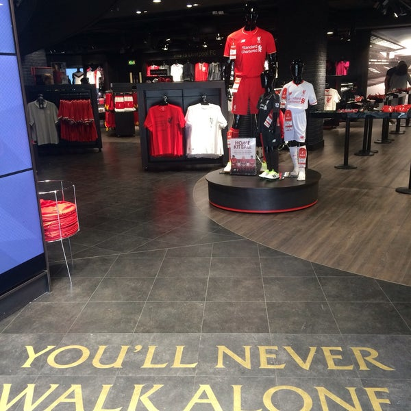 Photo taken at Liverpool FC Official Club Store by Pinar A. on 4/23/2016