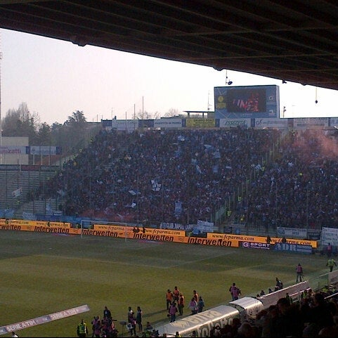 Photo taken at Stadio Ennio Tardini by Fabrizio R. on 1/27/2013