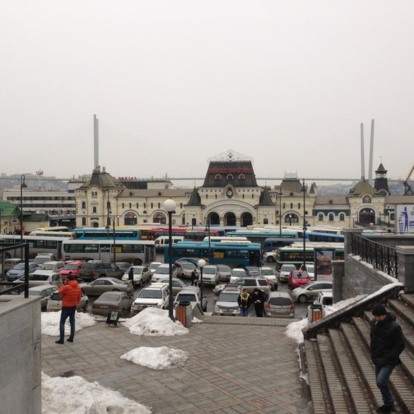 Photo taken at Железнодорожный вокзал Владивостока / Vladivostok Railway Station by Denis G. on 3/12/2013