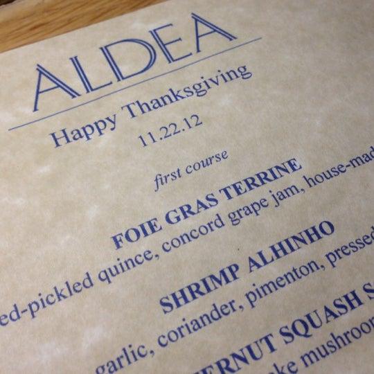 Photo taken at Aldea by Alan M. on 11/22/2012