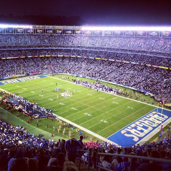 Photo taken at Qualcomm Stadium by Kallel B. on 10/15/2013
