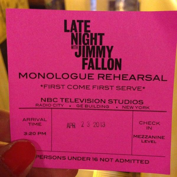 Foto tirada no(a) Late Night with Jimmy Fallon por Niky em 4/23/2013