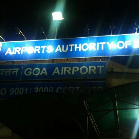 Photo taken at Goa International Airport / Dabolim Airport (GOI) by M a y e n k a r R. on 5/25/2013