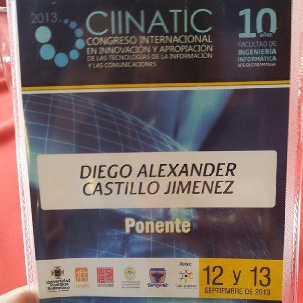 Photo taken at Universidad Pontificia Bolivariana - Seccional Bucaramanga by Diego C. on 9/12/2013