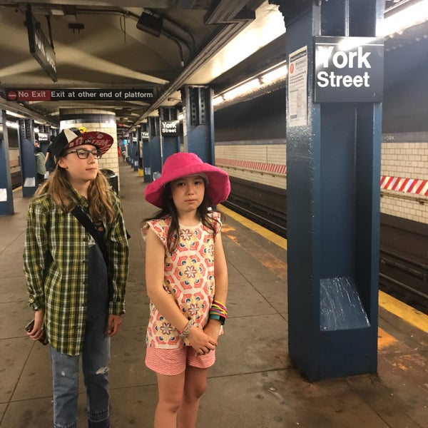 Photo taken at MTA Subway - York St (F) by Amy P. on 6/22/2017