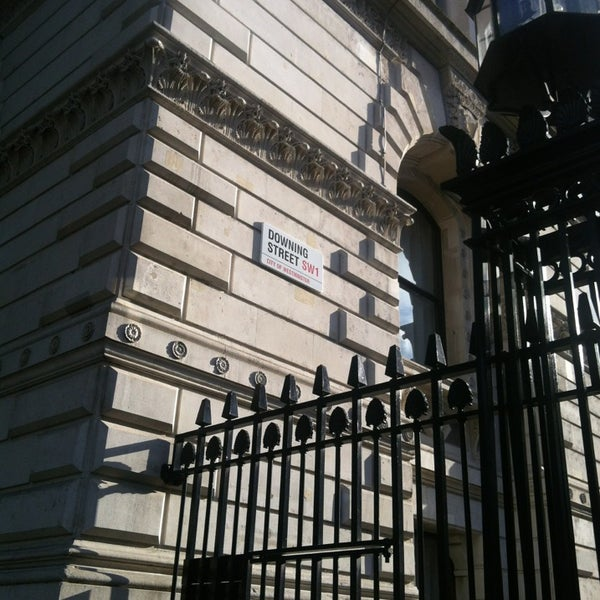 Photo taken at 10 Downing Street by Elena on 6/29/2013